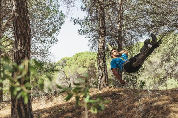 hængekøje i træ