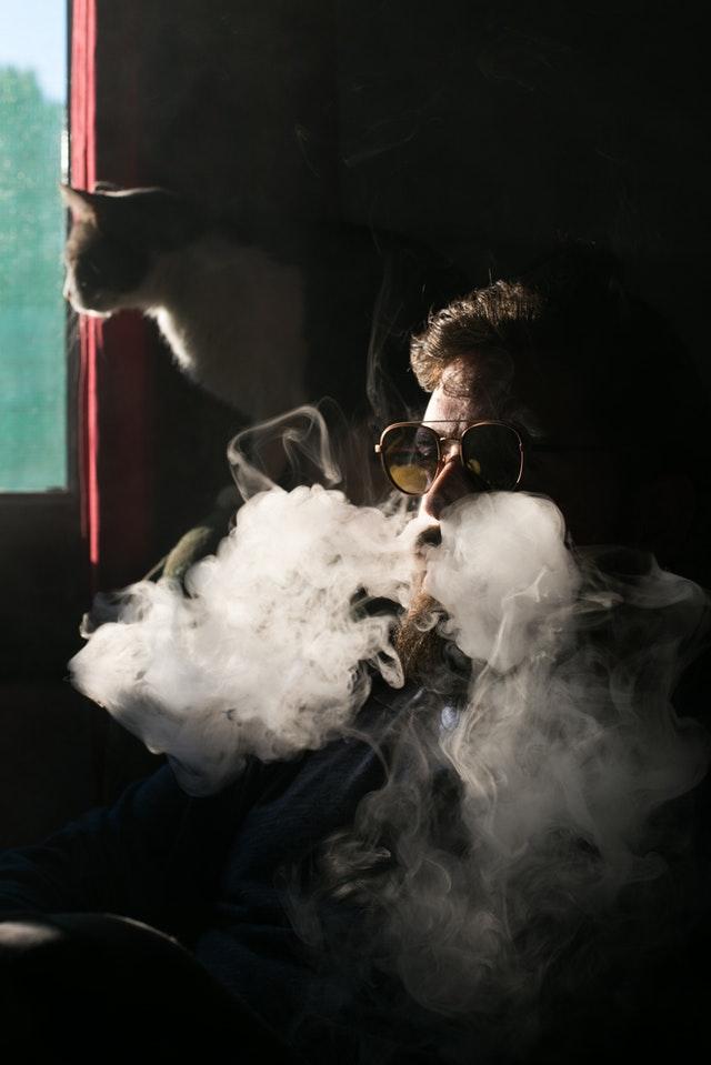 Røg fra ecigaret